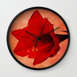 Amaryllis Wall Clock