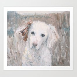 White Dog #2 Art Print