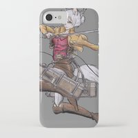 attack on titan iPhone & iPod Cases featuring Yoshimi Titan attack by ChiyoArts