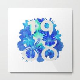 Blue Flower 1988 Metal Print