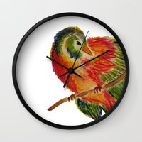 birdy Wall Clocks featuring Birdy by LaurenMarie94
