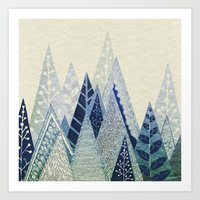 snow Art Prints featuring Snow Top by Rskinner1122