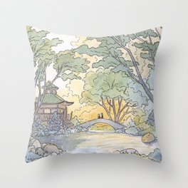 Dream - Watercolor Painting Throw Pillow