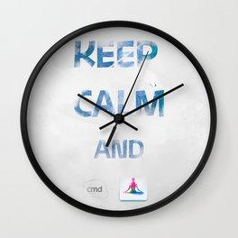 KEEP CALM and cmd YOGA Wall Clock