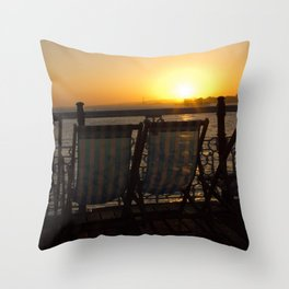 Sunset from Brighton Pier Throw Pillow