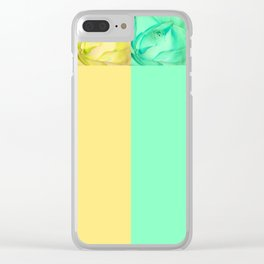Rainbow Roses Clear iPhone Case
