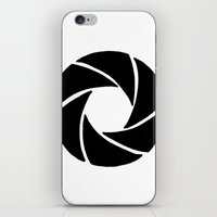 aperture iPhone & iPod Skins featuring Aperture by PlayWithFireDieInIce