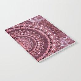 Boho Rosewood Mandala Notebook