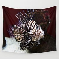 devil Wall Tapestries featuring Devil Firefish by Aidan Moran