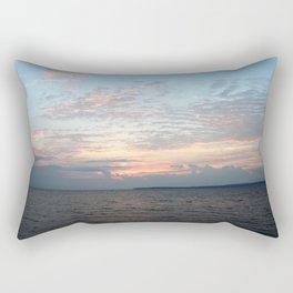 Early Morning Sunrise over Lake Huron Rectangular Pillow