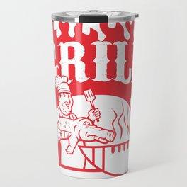BBQ Chef Carry Gator Grill Retro Travel Mug