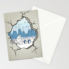 Winter Hole Stationery Cards