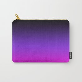 Black Purple and Neon Pink Ombre Carry-All Pouch