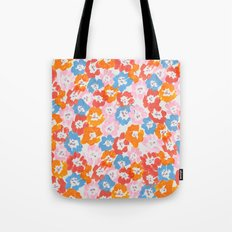 Morning Glory - Pink Multi Tote Bag
