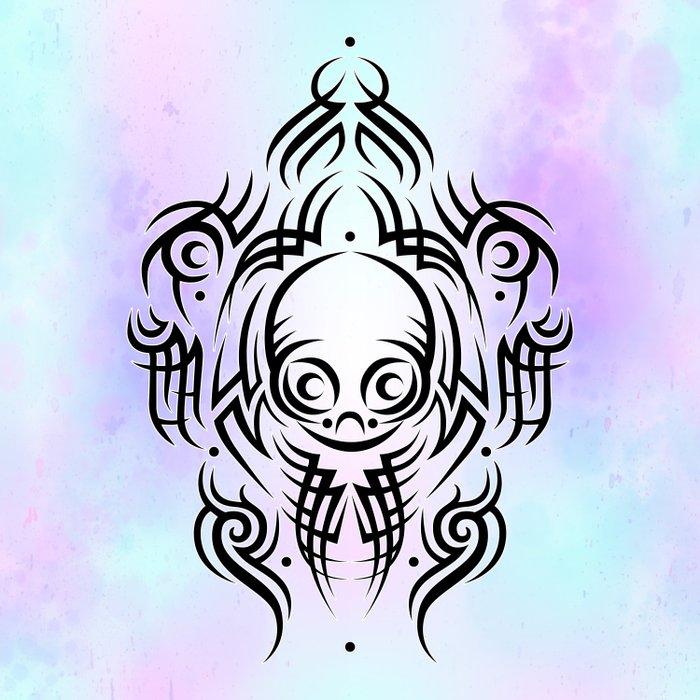 Alien Tribal Tattoo Comforters