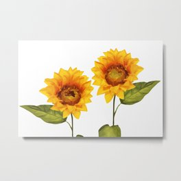 Sunflowers Illustration Metal Print