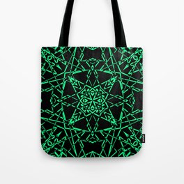 Black and green, abstract, geometric, creative, art Deco, modern Tote Bag