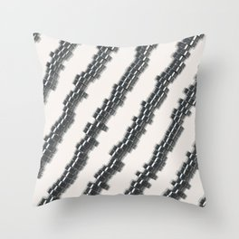 Pattern of brushed metal cylinders Throw Pillow