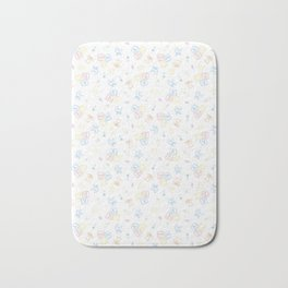 Baby Symbols Sketch - White Cloud Bath Mat
