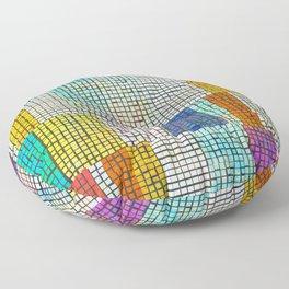 Rainbow Rectangle Tile Pattern Floor Pillow