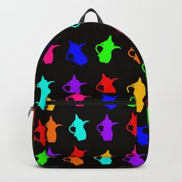 Colored Arabic Coffee Pot Backpack