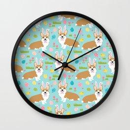 Welsh Corgi easter cute costume easter bunny corgis spring dog gifts Wall Clock