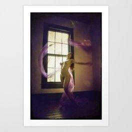 Purple Nude Art Print