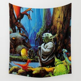 Swamp Dwelling Mystical Knight Wall Tapestry