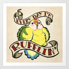 Rufflin' Art Print