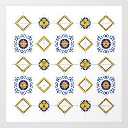 Majolica pattern Art Print