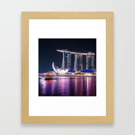 marina bay sands singapore Framed Art Print