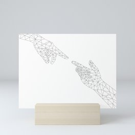 Michelangelo Reloaded (in white) Mini Art Print