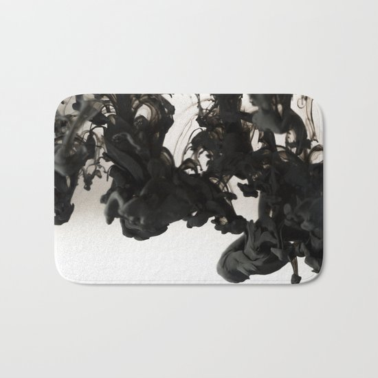 Ink #abstract #black Bath Mat