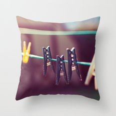 Pegs Throw Pillow