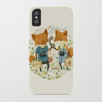 book iPhone & iPod Cases featuring Fox Friends by Teagan White