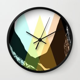 the three hills in the valley Wall Clock