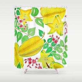 Starfruit Season Shower Curtain