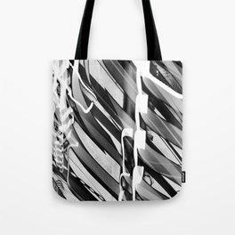 Light Dance Dark Stripes Tote Bag