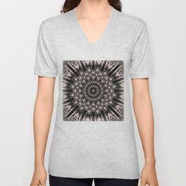Soft Dyed 3D Mandala Unisex V-Neck