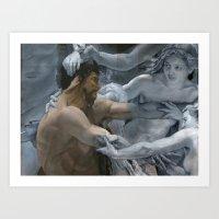 study Art Prints featuring Study by oracio