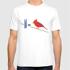 Angry Bird Mens Fitted Tee White MEDIUM