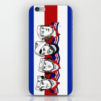 power rangers iPhone & iPod Skins featuring Rangers by Kana Aiysoublood