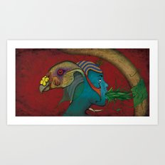 Siamese God Art Print