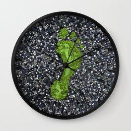 Carbon footprint Wall Clock
