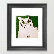 mystic's owl Framed Art Print