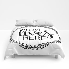 Love Lives Here - Family Decor Comforters