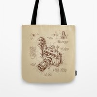sketch Tote Bags featuring Moment Catcher by Enkel Dika