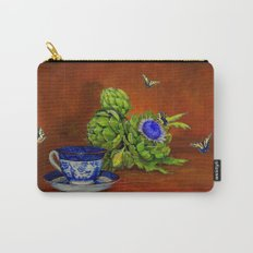 Teacup with Artichokes Carry-All Pouch