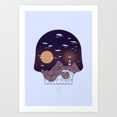 Skull Pier Art Print