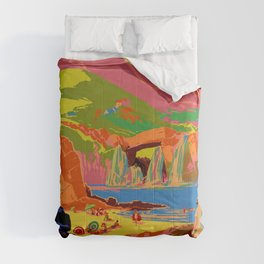 Vintage travel poster china Comforters